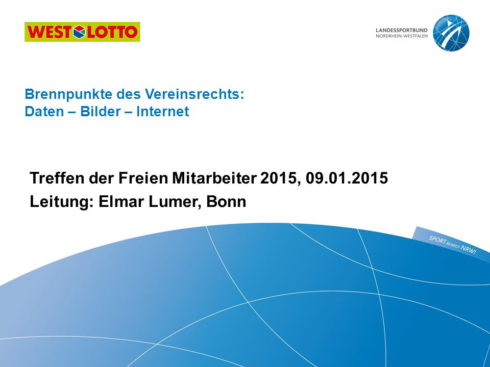 Brennpunkte des Vereinsrechts: Daten – Bilder – Internet