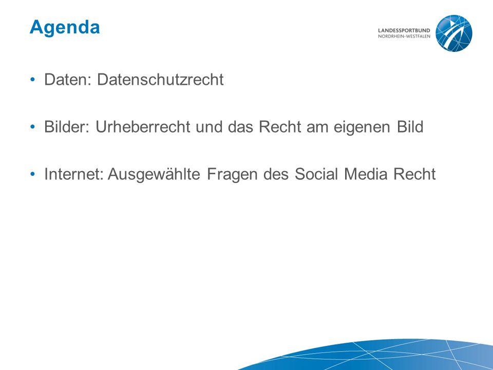 Agenda Daten: Datenschutzrecht