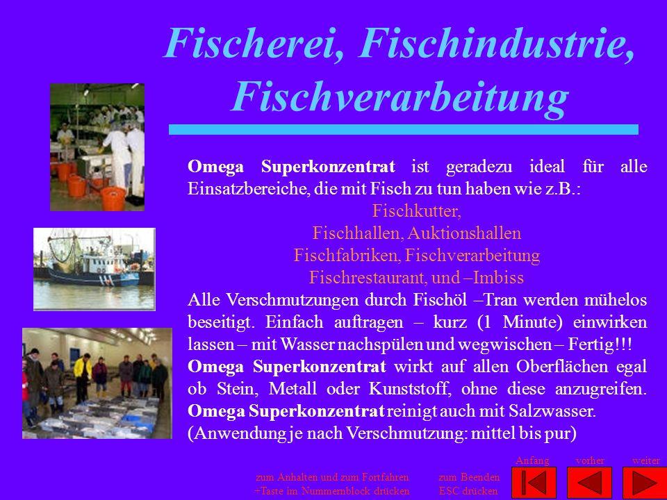 Fischerei, Fischindustrie, Fischverarbeitung