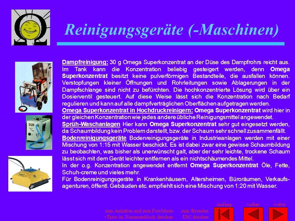 Reinigungsgeräte (-Maschinen)