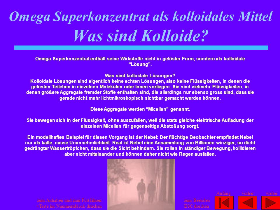 Omega Superkonzentrat als kolloidales Mittel Was sind Kolloide