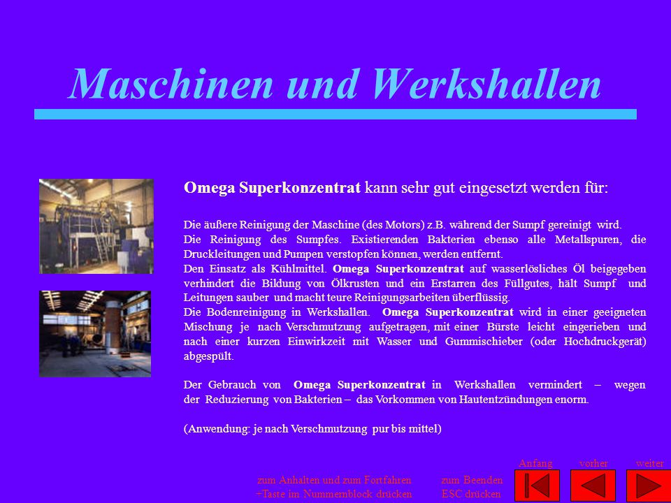 Maschinen und Werkshallen