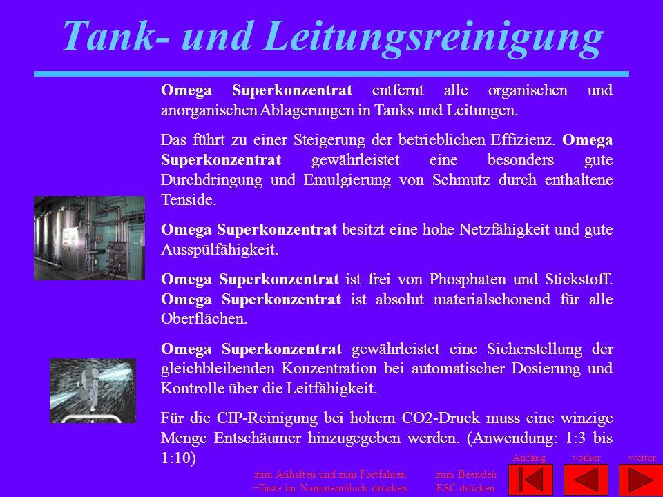 Tank- und Leitungsreinigung