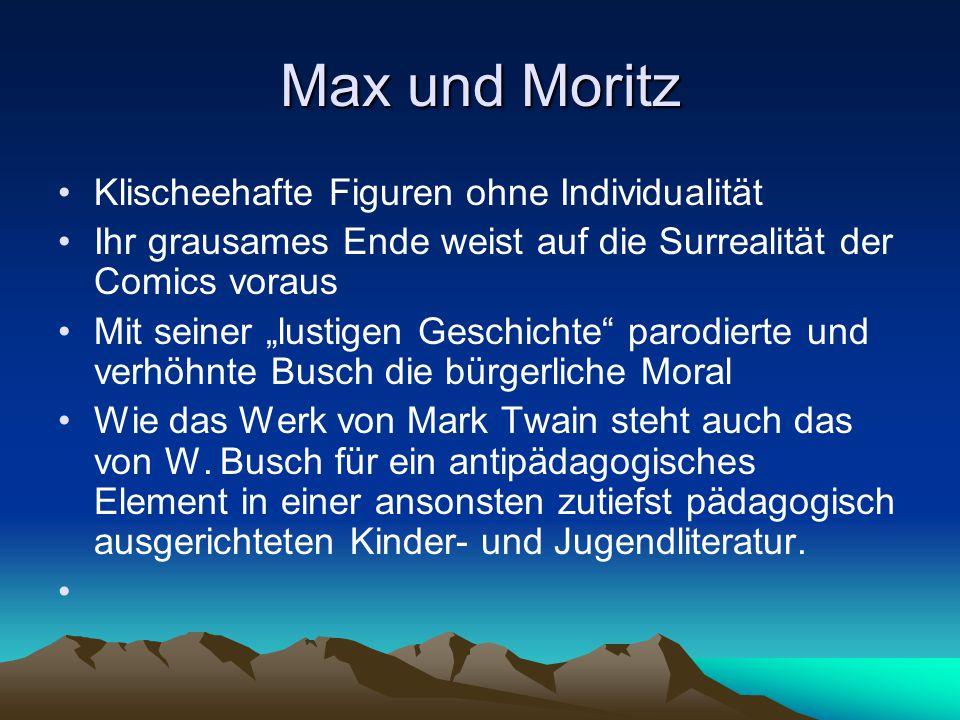 Max und Moritz Klischeehafte Figuren ohne Individualität