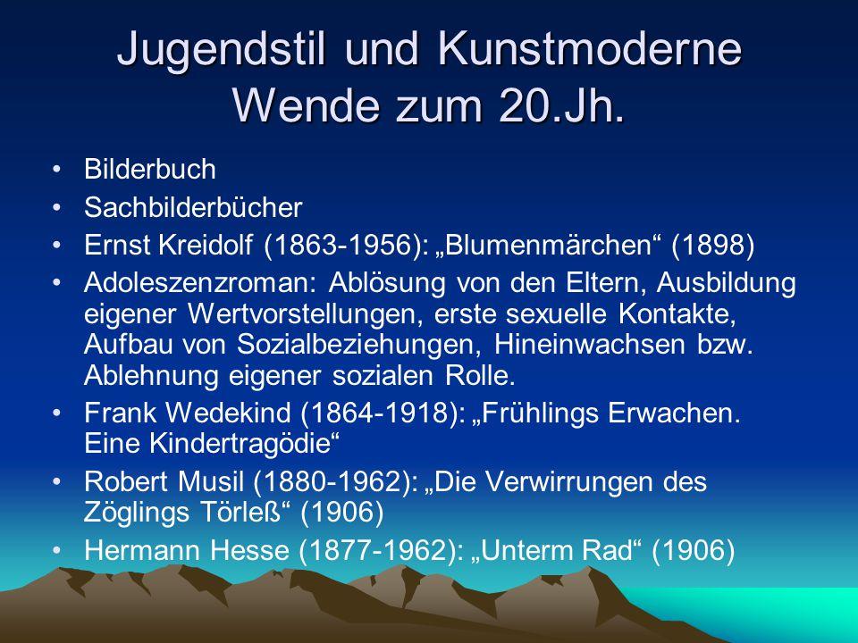 Jugendstil und Kunstmoderne Wende zum 20.Jh.