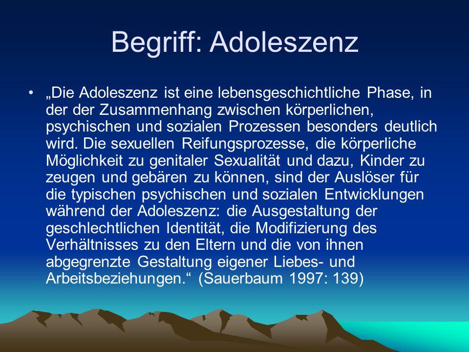 Begriff: Adoleszenz