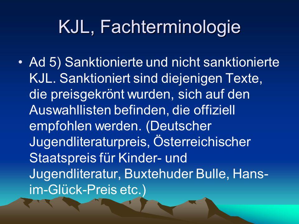 KJL, Fachterminologie