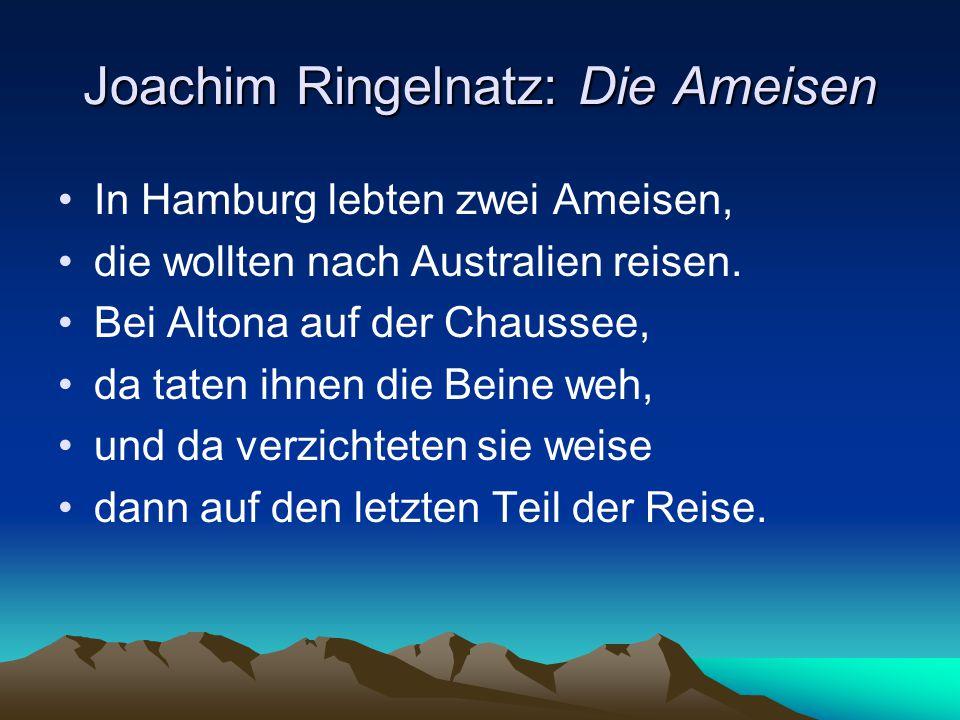 Joachim Ringelnatz: Die Ameisen