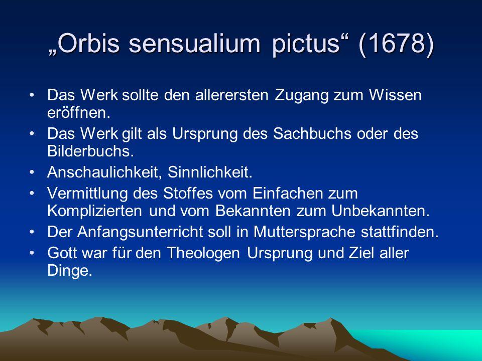 """""""Orbis sensualium pictus (1678)"""