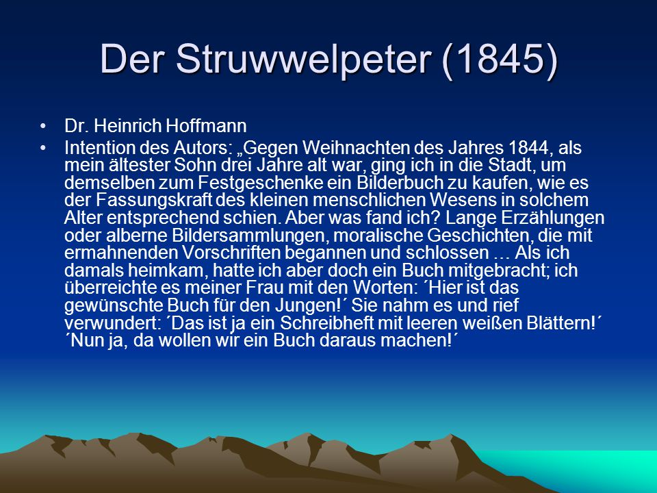 Der Struwwelpeter (1845) Dr. Heinrich Hoffmann