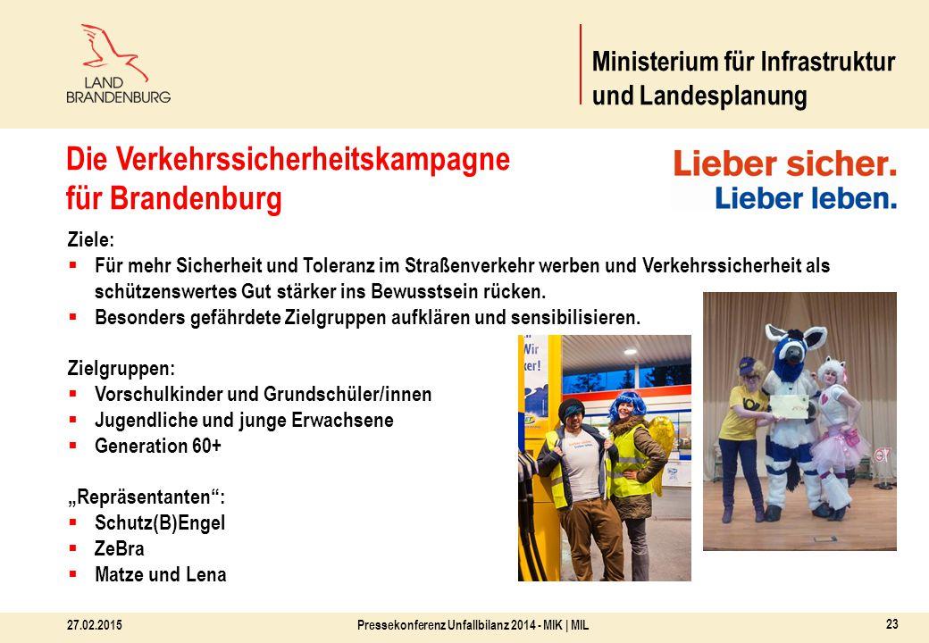 FÜR IHRE AUFMERKSAMKEIT! Pressekonferenz Unfallbilanz 2014 - MIK | MIL