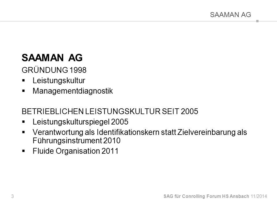 SAAMAN AG GRÜNDUNG 1998 Leistungskultur Managementdiagnostik