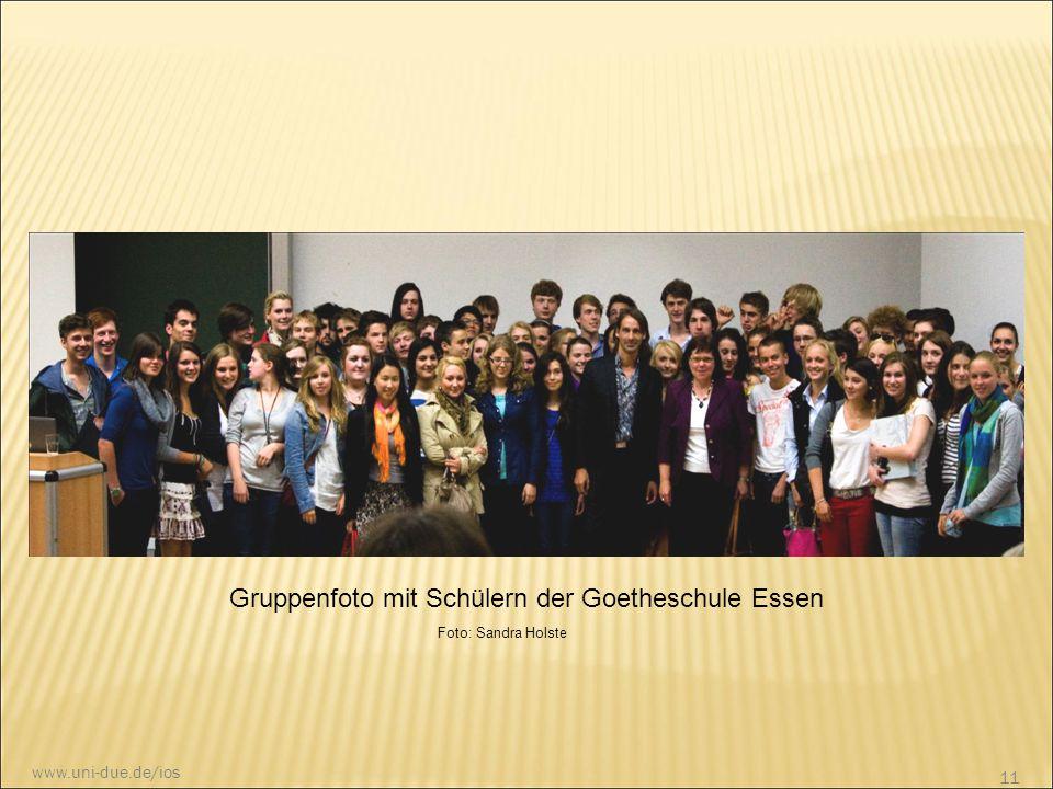 Gruppenfoto mit Schülern der Goetheschule Essen