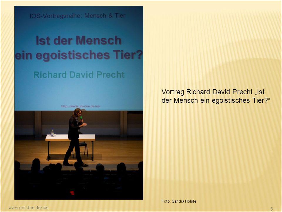 """Vortrag Richard David Precht """"Ist der Mensch ein egoistisches Tier"""