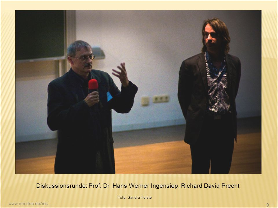 Diskussionsrunde: Prof. Dr. Hans Werner Ingensiep, Richard David Precht
