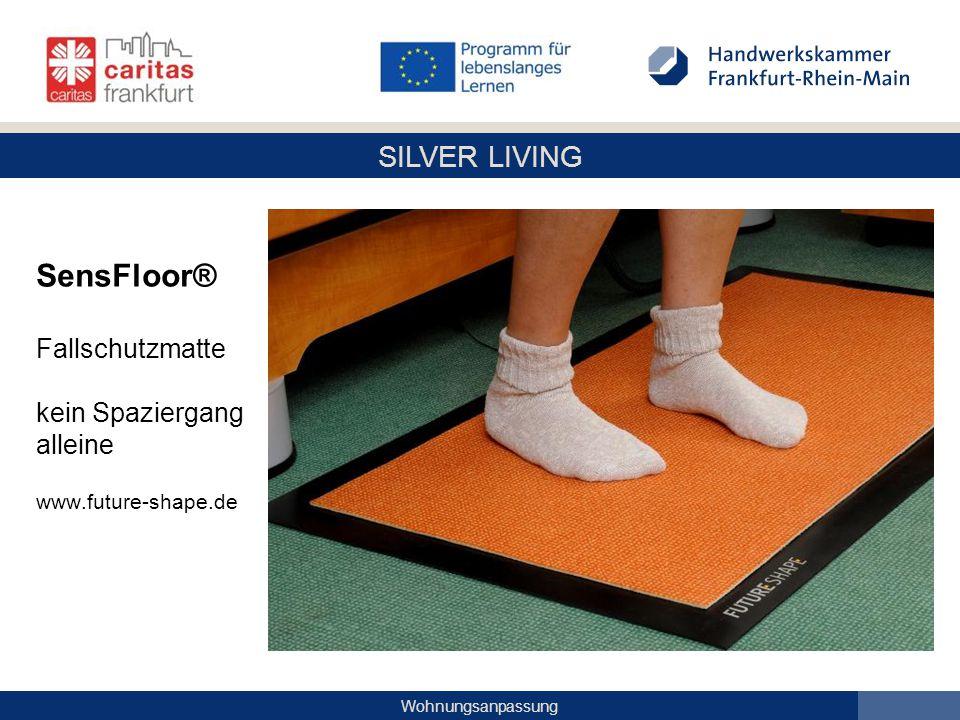 SensFloor® Fallschutzmatte kein Spaziergang alleine www. future-shape