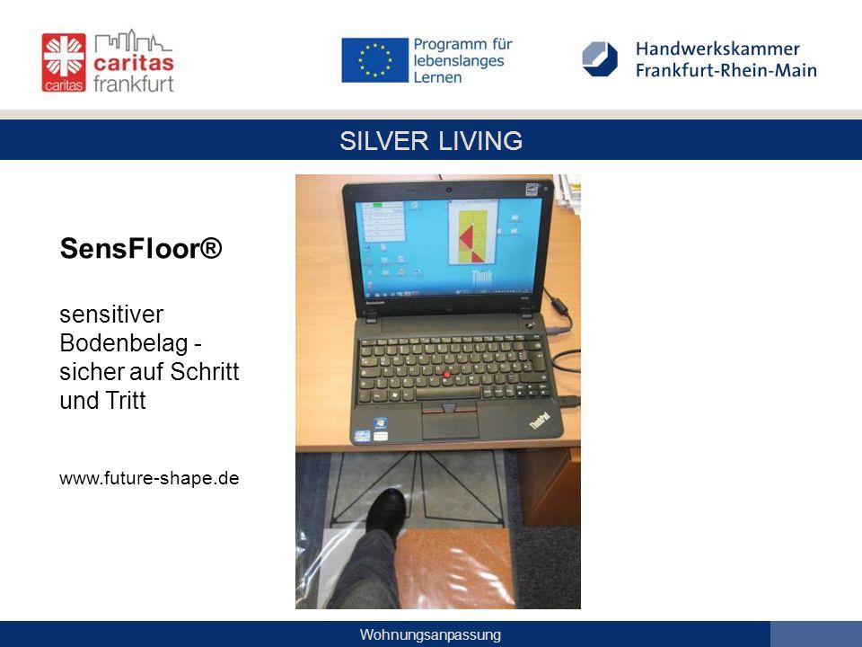 SensFloor® sensitiver Bodenbelag - sicher auf Schritt und Tritt www