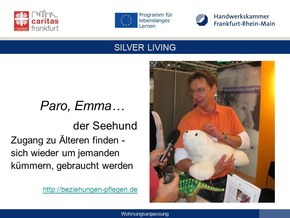 Paro, Emma… der Seehund Zugang zu Älteren finden -