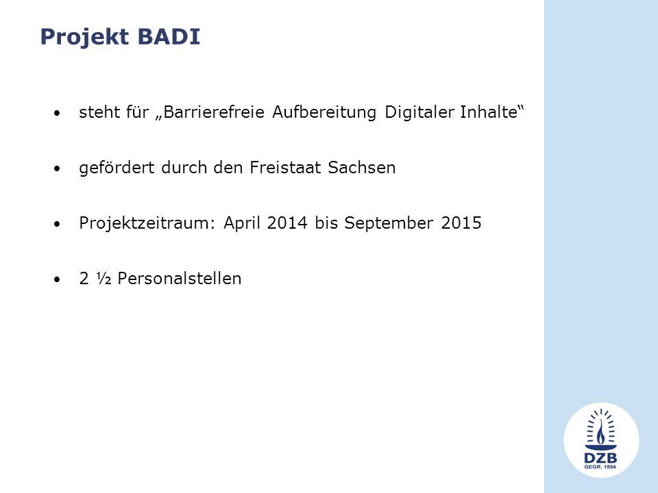 """Projekt BADI steht für """"Barrierefreie Aufbereitung Digitaler Inhalte"""