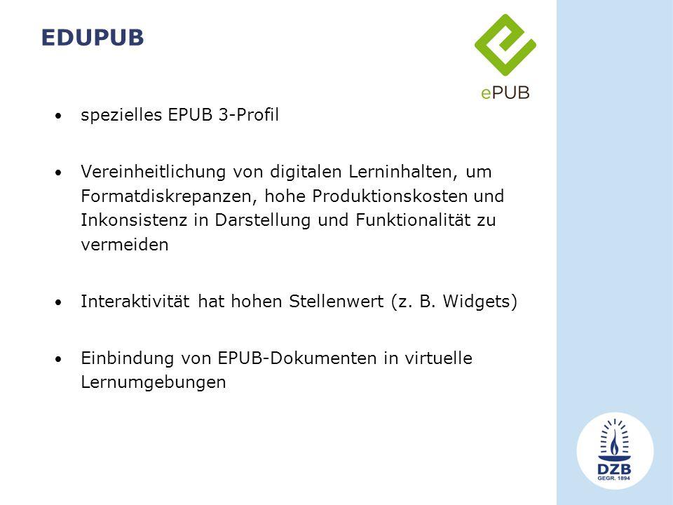 EDUPUB spezielles EPUB 3-Profil