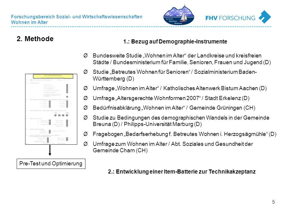 2. Methode 1.: Bezug auf Demographie-Instrumente