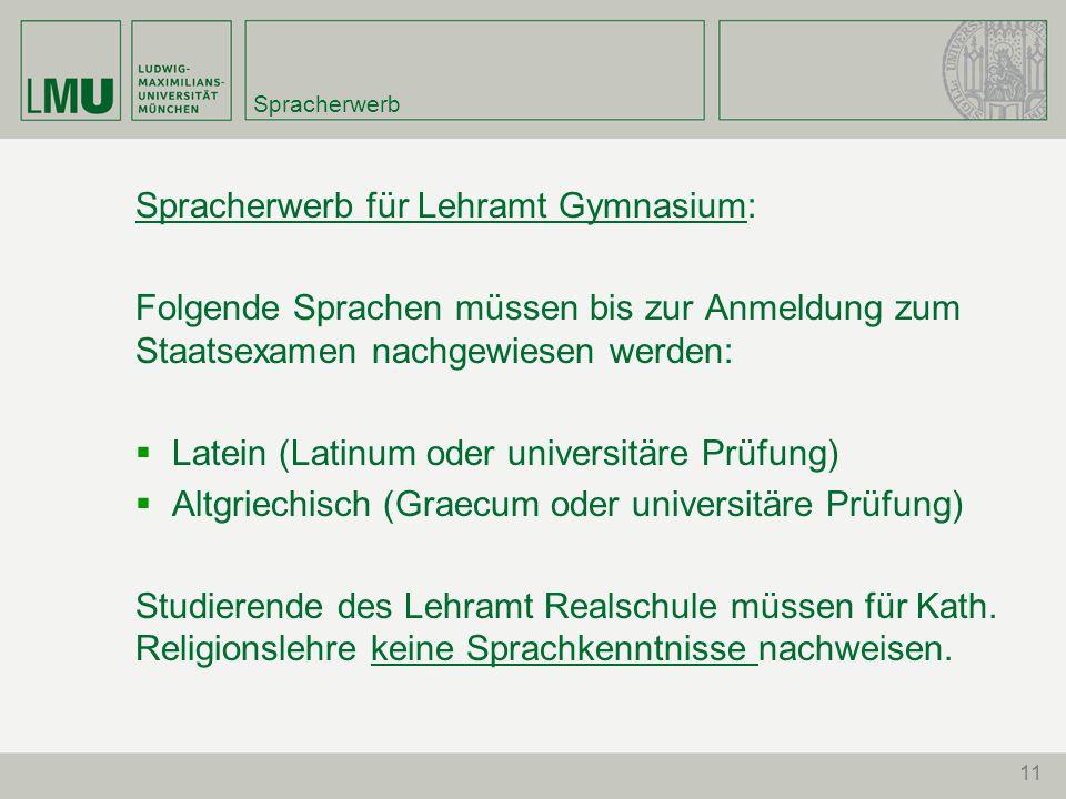 Spracherwerb für Lehramt Gymnasium:
