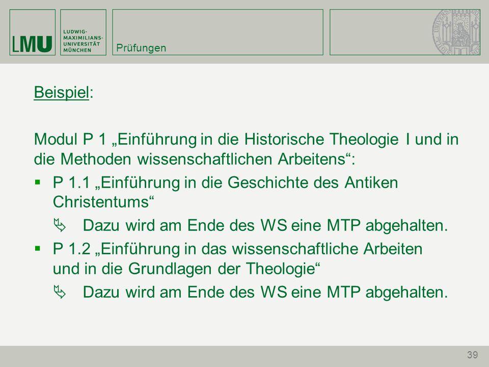 """P 1.1 """"Einführung in die Geschichte des Antiken Christentums"""