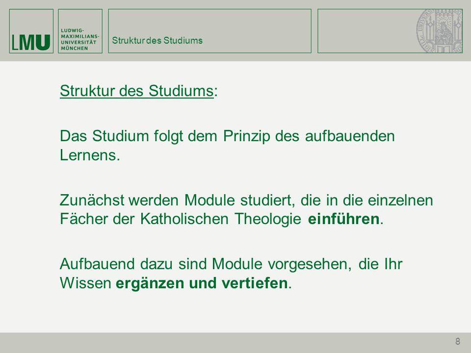 Struktur des Studiums:
