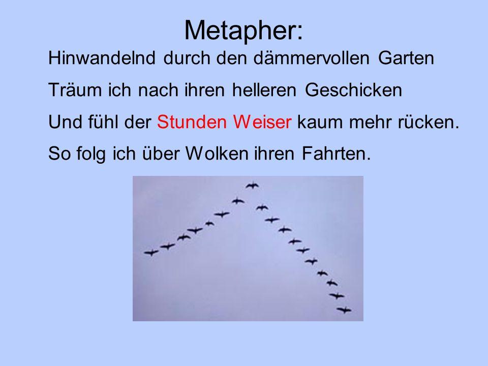 Metapher: Hinwandelnd durch den dämmervollen Garten