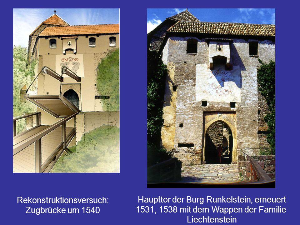 Rekonstruktionsversuch: Zugbrücke um 1540