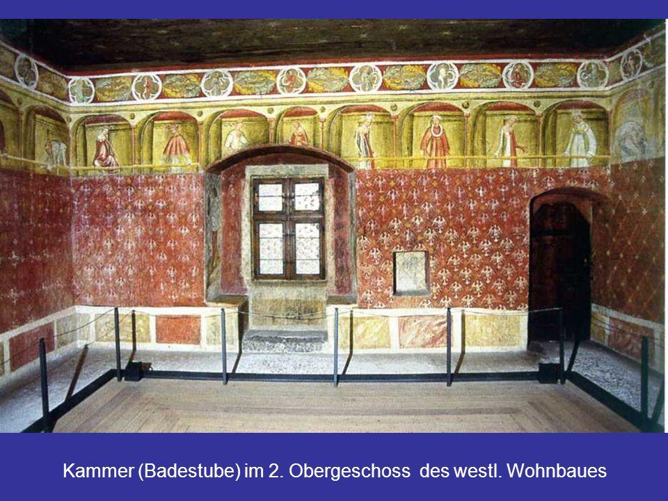 Kammer (Badestube) im 2. Obergeschoss des westl. Wohnbaues