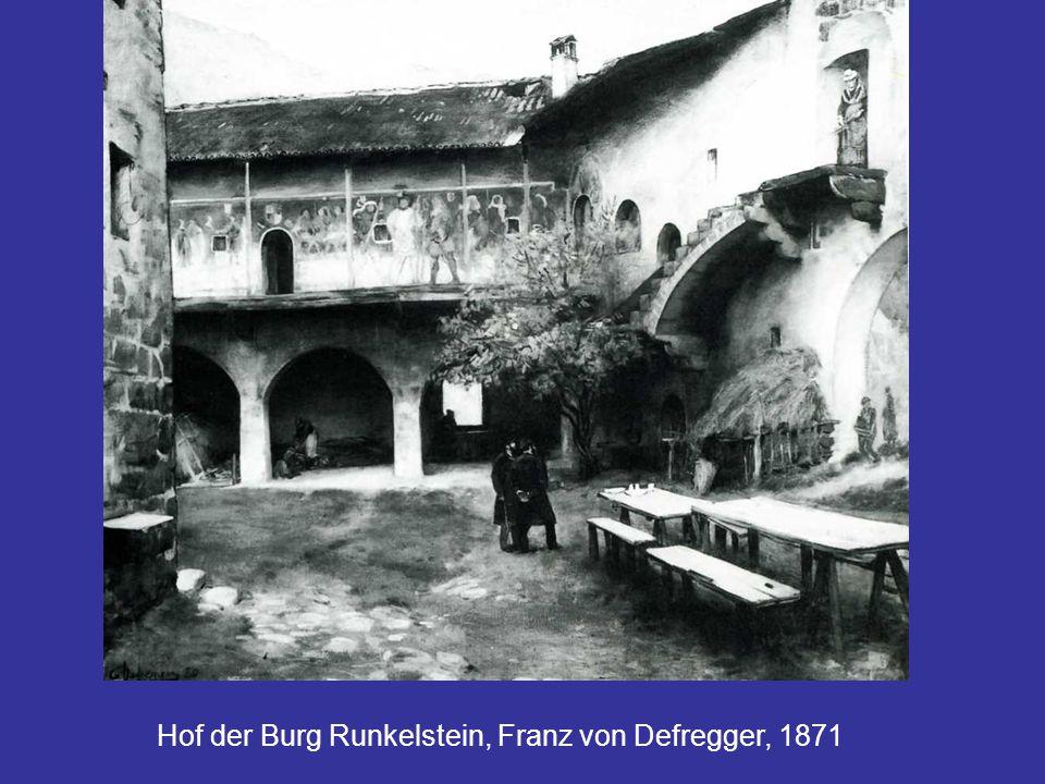 Hof der Burg Runkelstein, Franz von Defregger, 1871