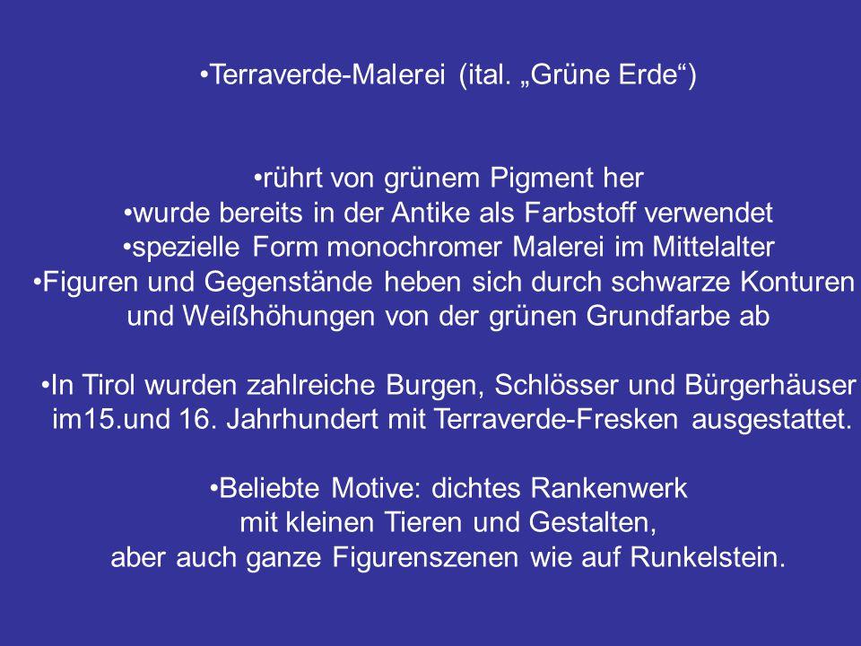 """Terraverde-Malerei (ital. """"Grüne Erde )"""