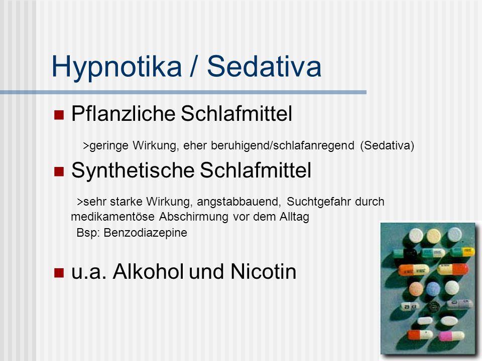 Hypnotika / Sedativa Pflanzliche Schlafmittel