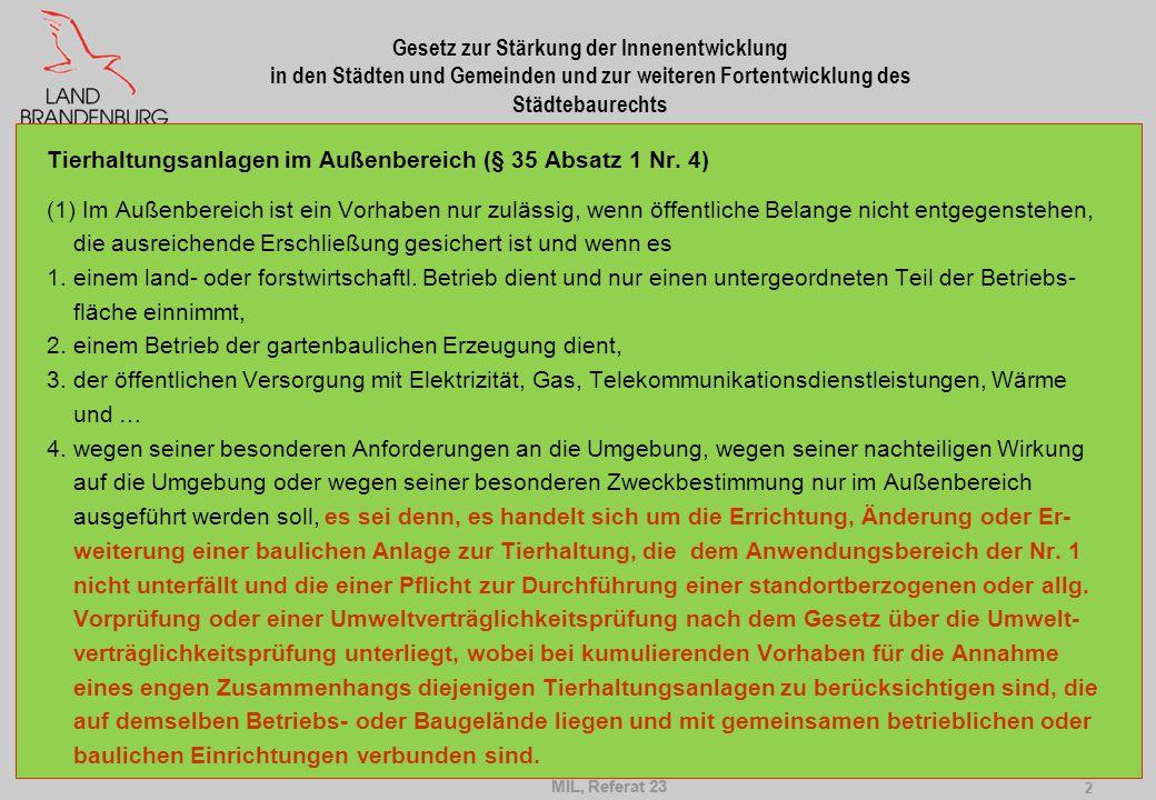 Gesetz zur Stärkung der Innenentwicklung in den Städten und Gemeinden und zur weiteren Fortentwicklung des Städtebaurechts