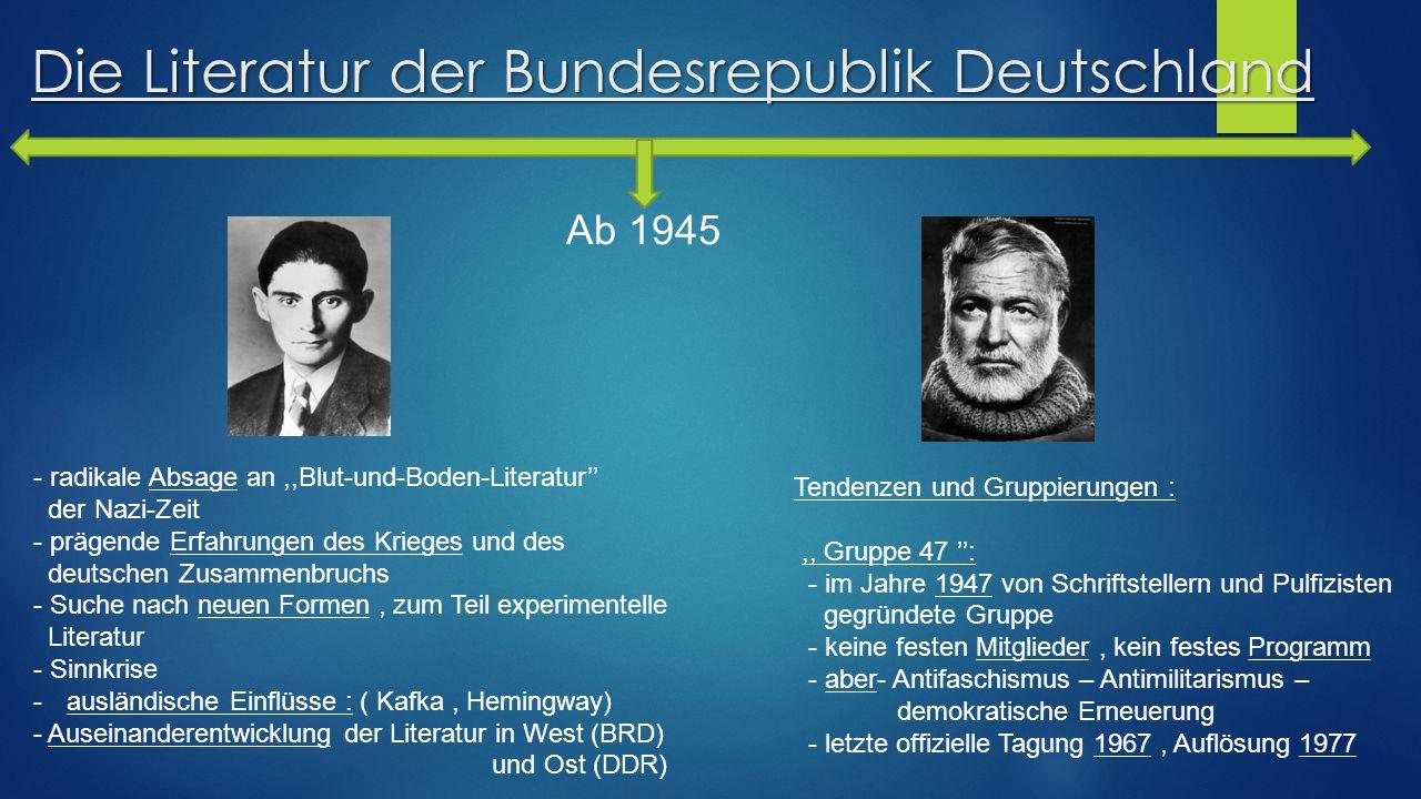 Die Literatur der Bundesrepublik Deutschland