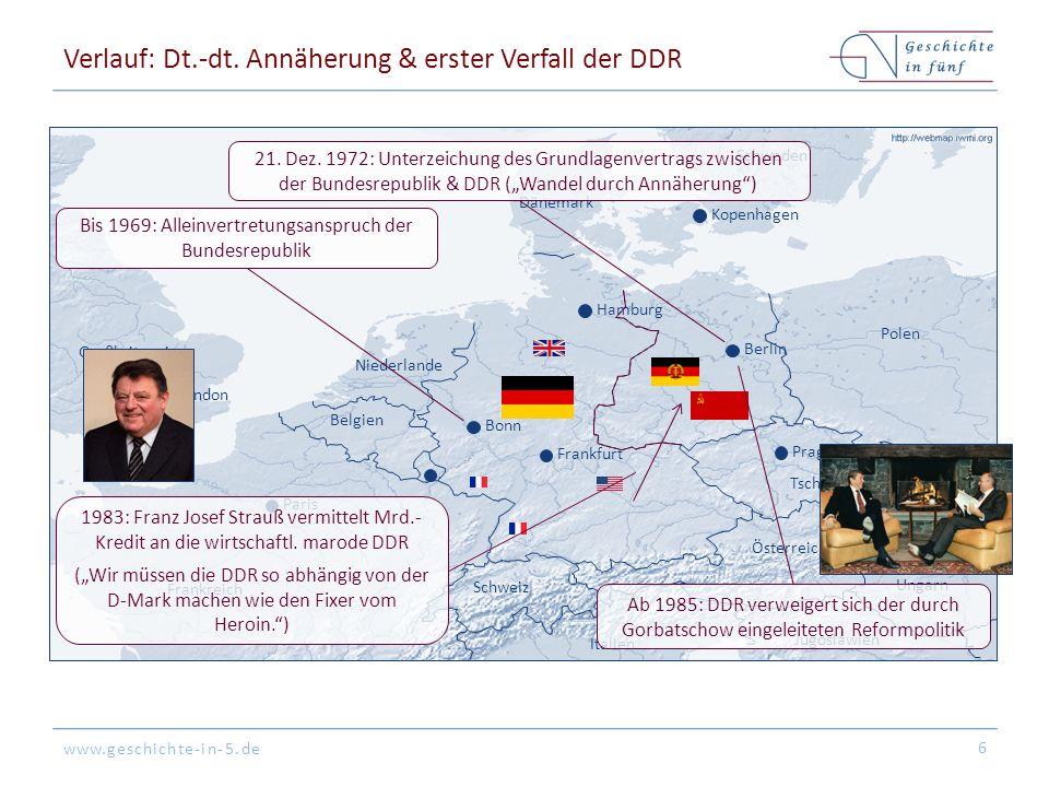 Verlauf: Dt.-dt. Annäherung & erster Verfall der DDR