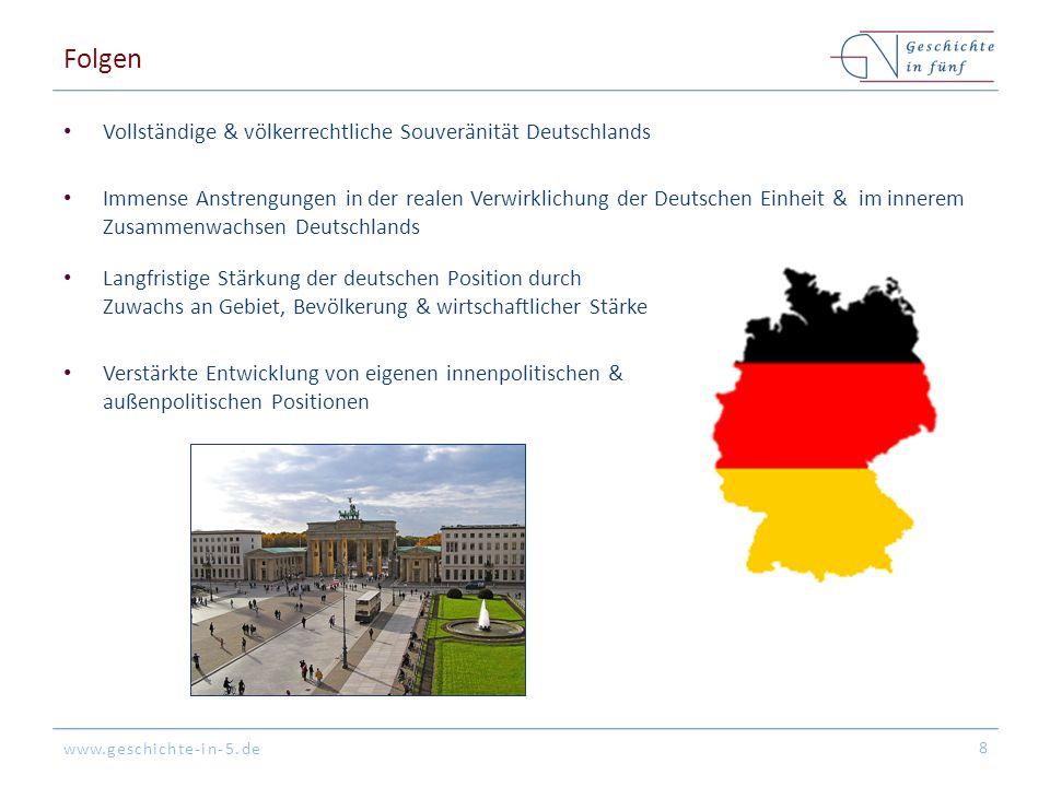Folgen Vollständige & völkerrechtliche Souveränität Deutschlands
