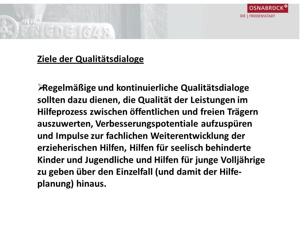Ziele der Qualitätsdialoge