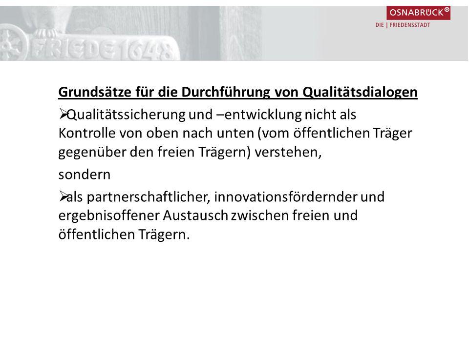Grundsätze für die Durchführung von Qualitätsdialogen