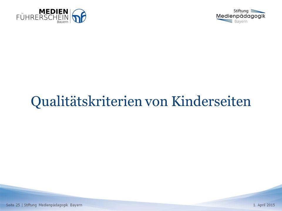 Qualitätskriterien von Kinderseiten