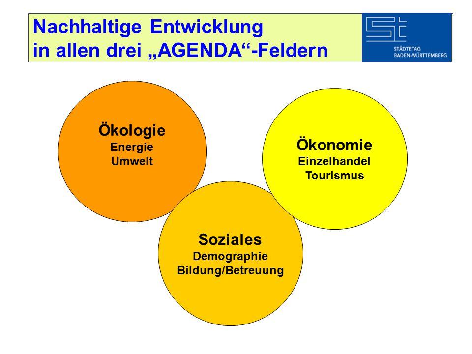 """Nachhaltige Entwicklung in allen drei """"AGENDA -Feldern"""