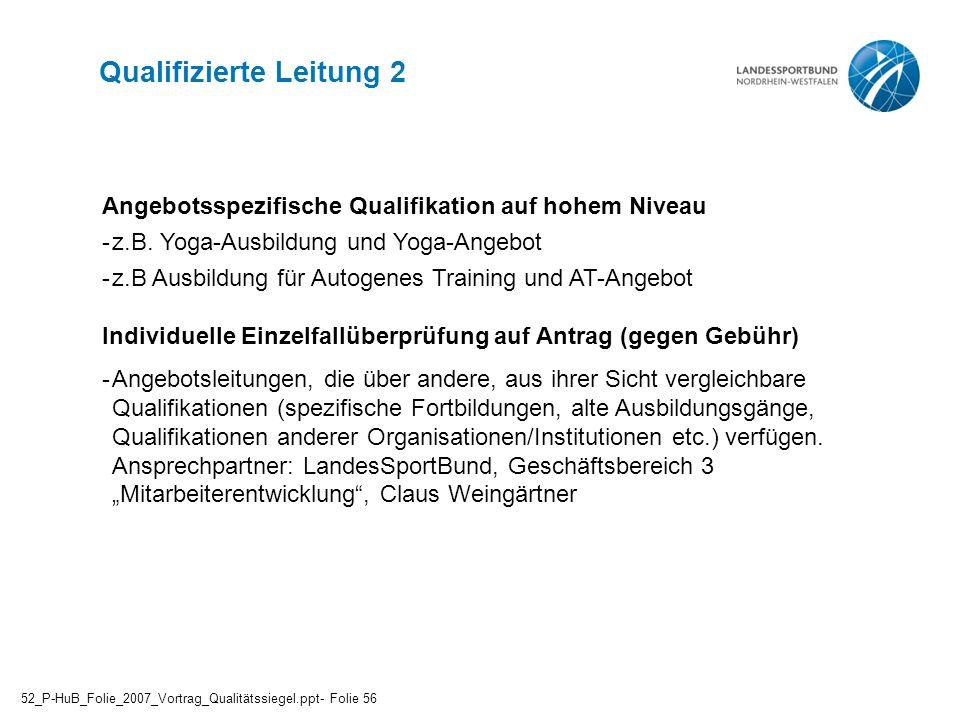 Qualifizierte Leitung 2