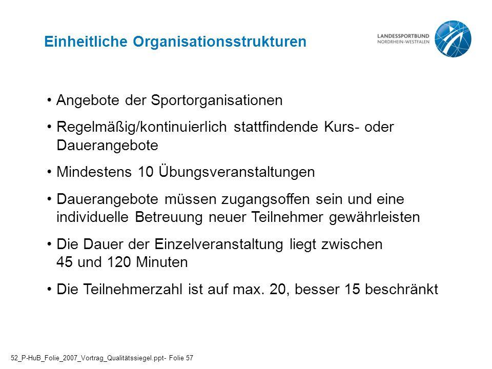 Einheitliche Organisationsstrukturen