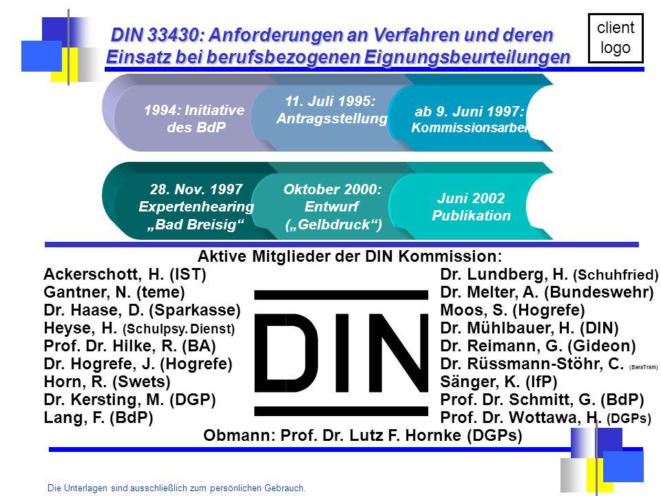 Obmann: Prof. Dr. Lutz F. Hornke (DGPs)