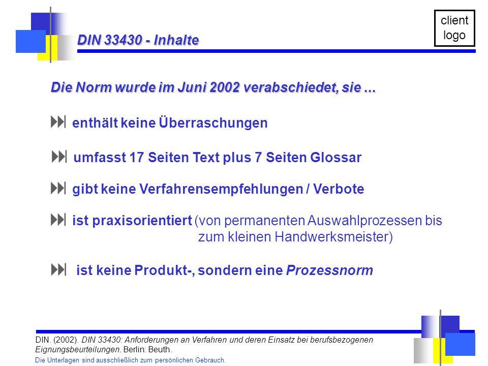 Die Norm wurde im Juni 2002 verabschiedet, sie ...