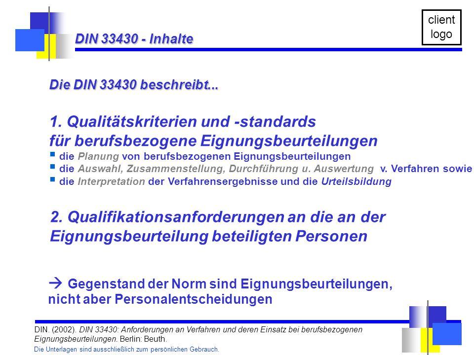 1. Qualitätskriterien und -standards