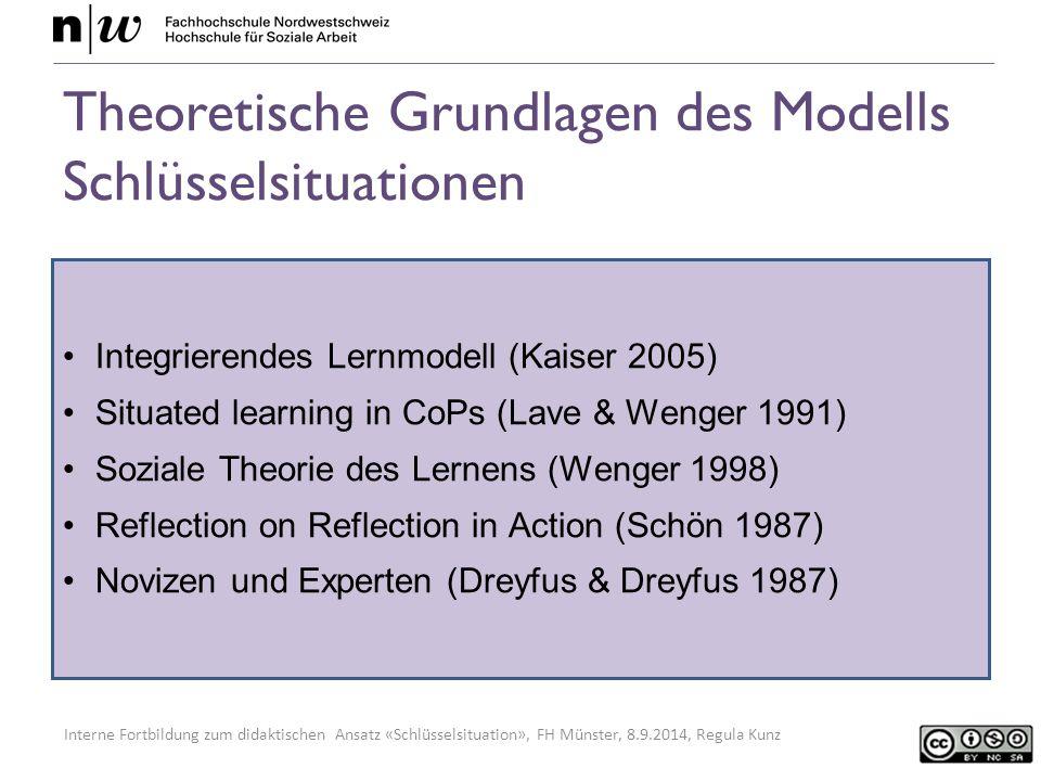 Theoretische Grundlagen des Modells Schlüsselsituationen