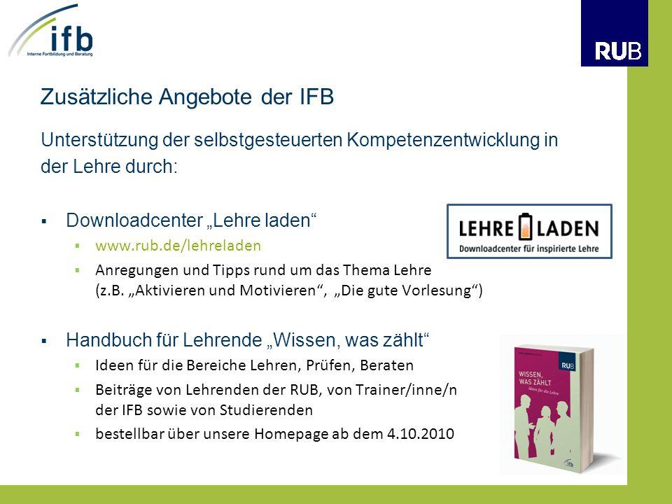 Zusätzliche Angebote der IFB