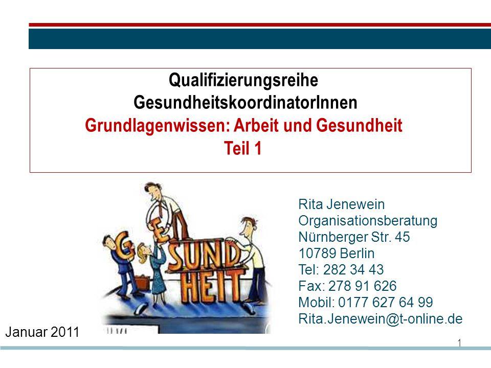 Qualifizierungsreihe GesundheitskoordinatorInnen